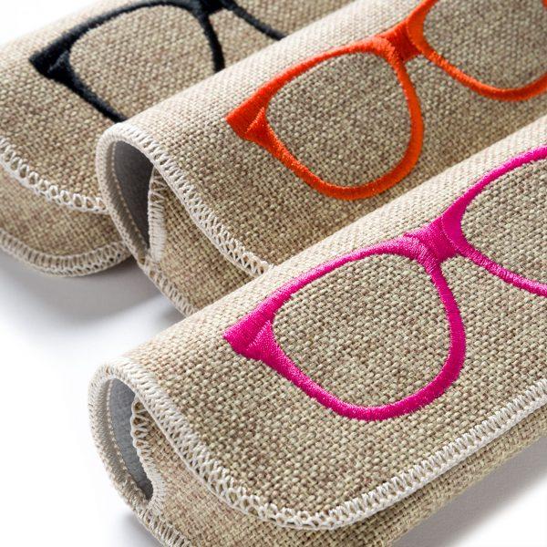 Brillenetui in Leinen-Optik