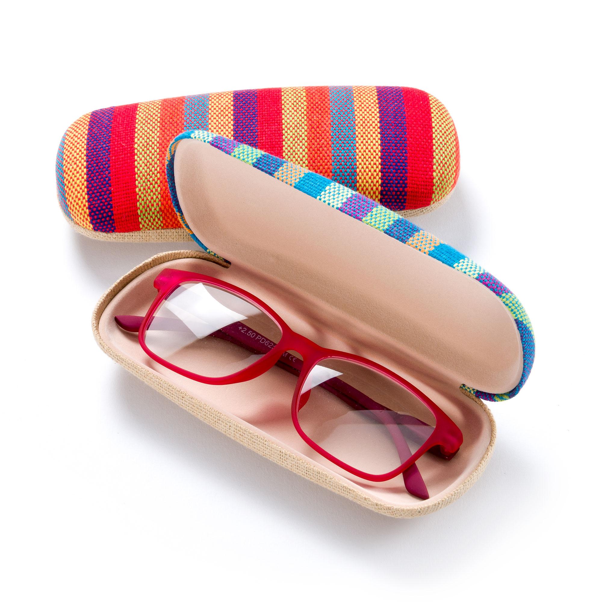 Mexico-Style FEFI Hardcase Brillenetui in Leinen-Optik