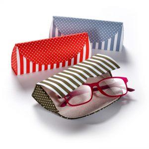 Schickes Brillenetui mit Stoffbezug