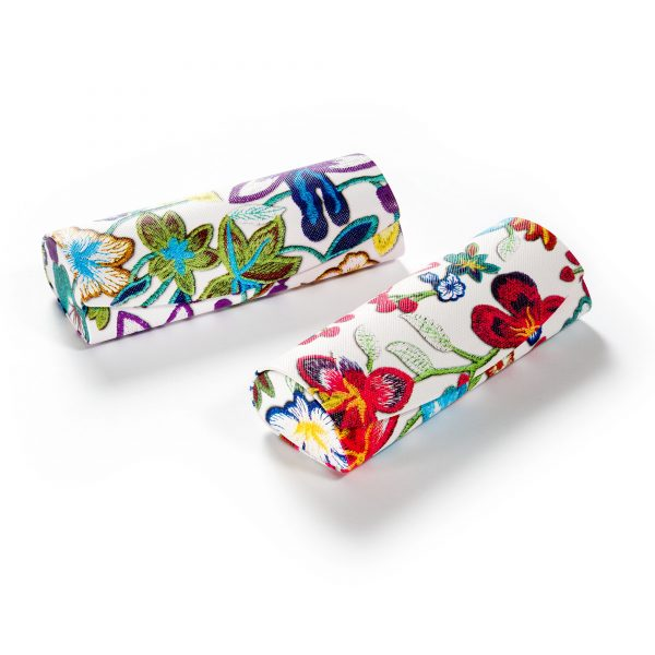 Hardcase Brillenetui im schicken Blumen-Design